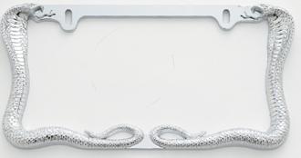 cobra license frame chrome