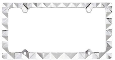skull license frame chromegold