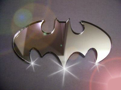 Chrome Batman Emblem Chrome Batman Emblems Chrome Finish
