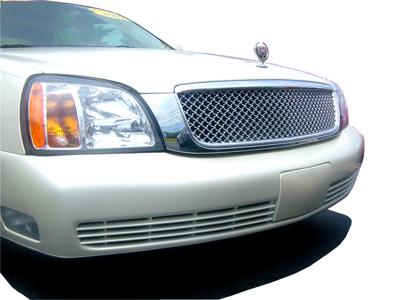 Cadillac Devile Chrome Mesh Grill on 2000 Cadillac Deville Emblems