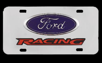 Chrome Ford Racing License Plate | Custom 3D Ford Racing