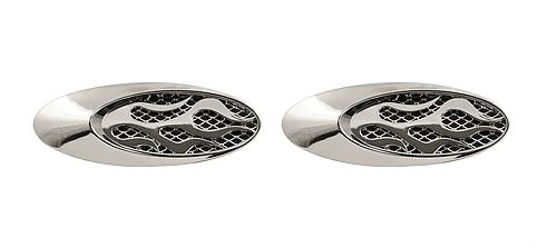 Oval Flames Vent Chrome Air Vents Chrome Finish Vent For