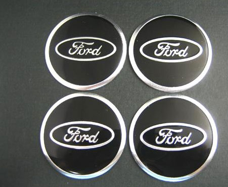 Ford Black Amp Chrome Wheel Center Cap Stickers Chrome
