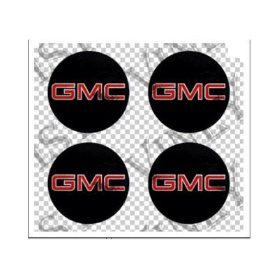 Gmc Black Amp Red Wheel Center Cap Stickers Chrome Sticker