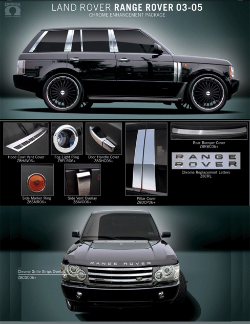 Land Rover Accessories 2003 2004 2005 Land Rover Chrome